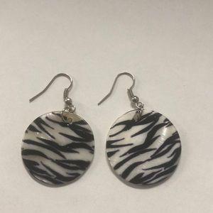 Jewelry - Zebra pattern earrings